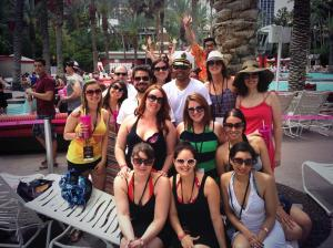 We were all sporting our Firmoo sunnies at the pool. Source: Karlyn Williams