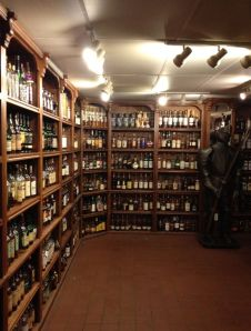 The knight in shining armour, guarding the largest collection of whisky in North America!